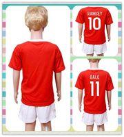 allen boy - New Uniforms Kit Youth Kids Soccer Jersey Wales European cup ROBSON KANU RAMSEY BALE Allen Williams Home Red Jerseys
