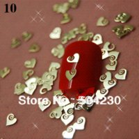 Wholesale 21 shapes Golden Nail Art Brand Logo Design Label Foil Metal Decorative Decals Seals Stickers cell phone decoration