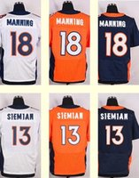 Wholesale 2016 New Men s Peyton Manning Trevor Siemian Blue white orange Top Quality jerseys Drop Shipping Hot Selling Elite jerseys