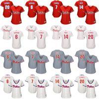 baseball chase utley - women Chase Utley mike schmidt Maikel Franco Pete Rose Philadelphia Phillies Baseball Jersey stitched size S XL