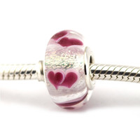 Wholesale Wild Hearts Charms Fits pandora Charms Bracelet Silver Murano Glass Beads For Jewelry Women Jewelry Valentine s Day Gift
