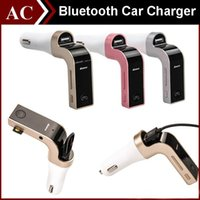 Wholesale G7 Smartphone Bluetooth MP3 Radio Player Handfree FM Transmitter Modulator A Car Charger Wireless Kit Support Hands free Micro SD TF Card