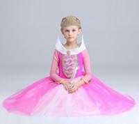 Wholesale 2016 girls dresses Girls dress Sleeping beauty princess aurora girls dress costumes Halloween costumes
