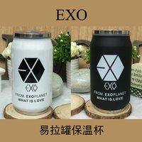 Wholesale kpop Exo from exo planet sehun Baekhyun Chanyeol kai D O lovers cup cans vacuum flasks
