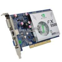 Pci vidéo 128 France-100% NOUVEAU OEM NF FX5500 256MB PCI carte vidéo avec TVO / VGA / DVI Drop Expédition avec numéro de suivi