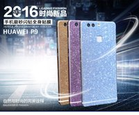 Wholesale D Matte Carbon Fiber Full Body Diamond Colorful Phone Protector Film Stickers For Huawei P9 P9 Plus