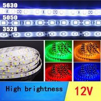 Wholesale Smd 3528 Led Strip Multicolor - LED Light Strip RGB Multicolor SMD 5050 5m 300LEDs 12V DC Indoor IP65 Adhesive Backed for Easy Installation LED Tape Light
