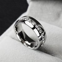 fashion rings - luxury Fashion rings Stainless Steel Crystal Wedding Rings For Women Men Top Quality Gold Plated mens ring jewelry gold silver color
