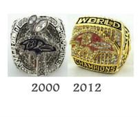 Compra Championship ring-Envío libre anillos de campeonato 2000 2012 Ravens oro 18k 925 de plata de los hombres de lujo ventiladores de colección.