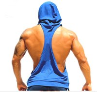 Wholesale Bodybuilding Stringer Hoodie Men Brand Clothing Gym Stringer Hoodie Fitness Tank Top Cotton Pullover Hoody Blusa Masculina