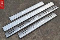accordion doors - Stainless steel Door sill scuff plate Guards cover trim set for Volkswagen VW Sharan door accordion