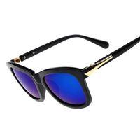 Moda UV400 gafas de sol de las mujeres Gafas de Sol Femenino Vidrios frescos Gafas de sol Mujer marca con luneta Soleil Femme W770