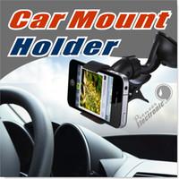 al por mayor coche montaje iphone5-El teléfono móvil de la célula del montaje del parabrisas del coche monta los sostenedores el soporte de 360 grados se coloca para iPhone5 4S para Samsung Smartphone Envío libre