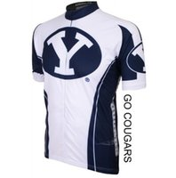 Wholesale ADL BYU ROD Brigham Young Cougars NCAA Cycling Jersey Tops Mens men Short Sleeve Jerseys Shirts Summer Wear road Clothing bike shirt