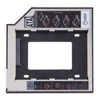Cheap Universal 2.5 2nd 9.5mm Ssd Hd SATA Hard Disk Drive HDD Caddy Adapter Bay For Cd Dvd Rom Optical Bay Hot New