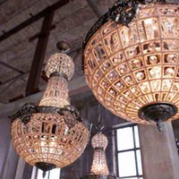 big crystal chandelier lamp - Retro Vintage oval ball Charming royal french empire style big led crystal chandelier lamp lights for hotel church dining room
