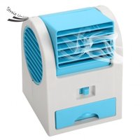 Wholesale 1 Piece Portable USB Battery Mini Bladeless Air Conditioner Cooling Cool Desk Tower Fan