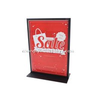 banner posters - Customized Metal Display Stand Poster Stands A4 metal poster holder display banner holder with hot sale