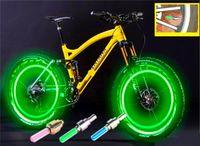 Wholesale NEW LED Flash Tyre Bike Lights Wheel Valve Cap Light Car Bike Bicycle Motorbicycle Wheel Lights Aluminium Material LED Car Light