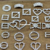Wholesale A Grade Rhinestone Buckle Mix Diamante Heart Square Shape Buckles wedding decoration DIY accessories