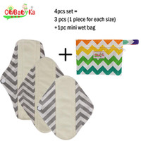 animal print napkins - Sanitary Menstrual Napkins Pads Bamboo Cloth Sanitary Pad Character Print Women Menstrual Pad for Feminine Product