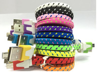 Wholesale High quality noodles flat usb cable m ft m ft m ft smartphone usb cable braided usb cable for iphone Android samsung HTC
