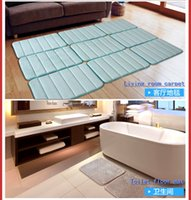 Wholesale Slow rebound water bathroom mats mat toilet bathroom kitchen bedroom mat waterproof pad Machine washable and easy to clean absorbent carpet