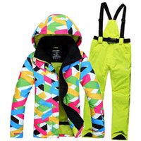 Wholesale NEW high quality outdoor ski jacket Snowboard pants women waterproof windproof ski suit warm breathable Coat