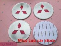 Wholesale 4pcs Specials mm Mitsubishi Car Wheel Center Hub Cap Badge Emblem wheel dust proof Decal Sticker
