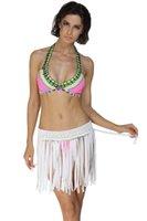 Wholesale Women Bright Fringe Skirt Cover up Tassel Women Skirts Tassel Petticoat Elastic Waistband