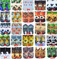 Wholesale Socks personality cartoon animal D printing socks men and women shallow mouth stealth socks boat socks
