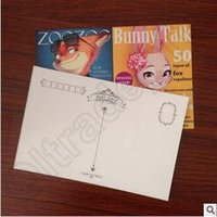 Wholesale 100lot CCA3777 High Quality Zootopia Poster Blessing Postcards Gift Christmas Card Greeting Card Birthday Card Cartoon Postcards