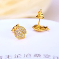 alphabet stud earrings - 2016 Orecchini New Stud White Owl Earrings Hot Sales Freeshipping Direct Selling Animal Copper k Gold Plated Diamond Pearl Jewelry