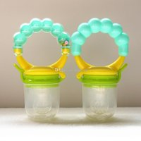 baby food meats - Free EMS Baby Cute Food Nipple Feeder Silicone pacifier Fruits Meat Feeding Tool Supplies With Bell SZ16 N01