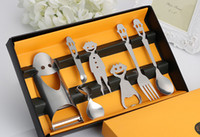 Wholesale 6pcs set Smile Stainless Steel Dinnerware Silver Cutlery Set Fork Spoon Teaspoon Set Restaurant Gadget Cutlery