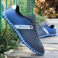 beijing times - 2016 Time limited Deep Blue Fabric Old Beijing Cloth Shoes New Men s Single Men Casual Sandals Summer Breathable Mesh Spring Hollow Out