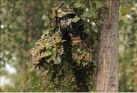 Wholesale Forest Camouflage Suit Hunting Ghillie Suit Foliage camouflage hunting clothing D forest hunting clothes camouflage suit