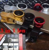 Wholesale mobile cell phone Clip on Universal Fisheye Lens Macro Wide in lens for apple lens