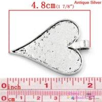 aluminium shoes - harm Pendants Heart Antique Silver Cabochon Setting Fits x3 cm x3 cm B24860 seasons pendant shoe pendant aluminium pen