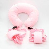 adult neck pillow - Sex Products Neck Pillow with Ankle Cuffs Adult Game Open Leg Bondage Belt Erotic Toys Bdsm Bondage for Couples FD0002
