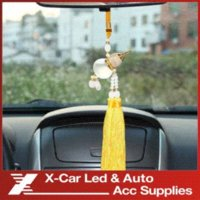 Wholesale Car Gourd Pendant without perfume Crystal Glass Ornaments Adornment Auto Furnishing Articles For Safe Driving Lucky Blessing Ornaments