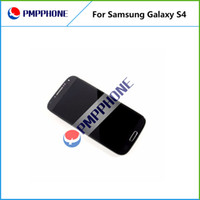 Wholesale For Samsung Galaxy S4 i9500 I545 I337 White and blue Touch LCD Screen Digitizer Frame Replacement with Fast DHL ship