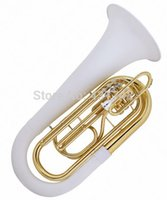Wholesale Marching Tuba Fiberglass Body with Plastic Case and mouthpiece Musical instruments EMS