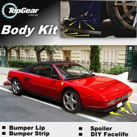 Wholesale Bumper Lip Lips For Ferrari Mondial Front Skirt Deflector Spoiler For Car Tuning The Stig Recommend Body Kit Strip