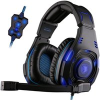 best professional earphones - Best Headband Gaming Headset Professional Hifi Stereo PC casque Gamer Cool Head Phones Surround Sound Earphones With MIC