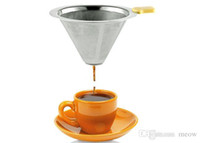 Wholesale Stainless Steel Coffee Filter Cone Dripper Filter Washable Reusable Permanent Filter Ultra Fine Mesh Micro Filter Cups