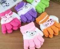 Wholesale hot Children Five fingers gloves kids Winter Coral fleece gloves boy girl gloves children s mittens