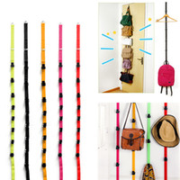 Wholesale Stylish Fashion Over Door Hat Bag Clothes Coat Rack Holder Organizer Adjustable Straps Hanger Lowest Price