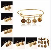 best gold leaf - Fashion Charms Alex Ani Vintage Anchor Leaf Best Friends Pendant Heart Design Women Bangles Cuff LOVE Bracelet For Women Jewelry HJIA187