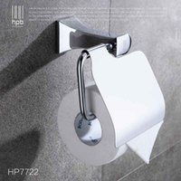 Wholesale Han Pai Brass Bathroom Accessories Toilet Paper Holder Chrome Finished Wall Mounted Bath Acessorios de banheiro HP7722